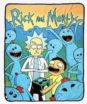 """Rick & Morty Many Meeseeks Super Plush Throw Blanket 50"""" X 60"""" New With ... - $24.25"""