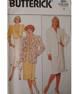 3631 Vintage Butterick SEWING Pattern Misses Jacket Skirt Blouse 1980s U... - $4.89
