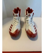 Adidas Men Sz 11 FREAK X CARBON mid football cleats White/Red B42577 NEW... - $45.00