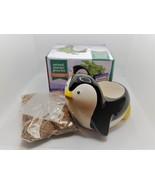 Penguin Animal Planter Grow Kit, ceramic pot with soil and mint herb seeds - $12.99