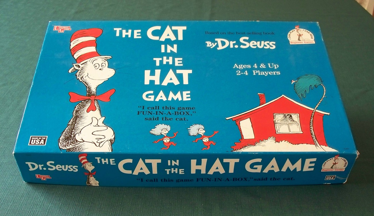 The Cat In The Hat Board Game University Games 2000, Comp.
