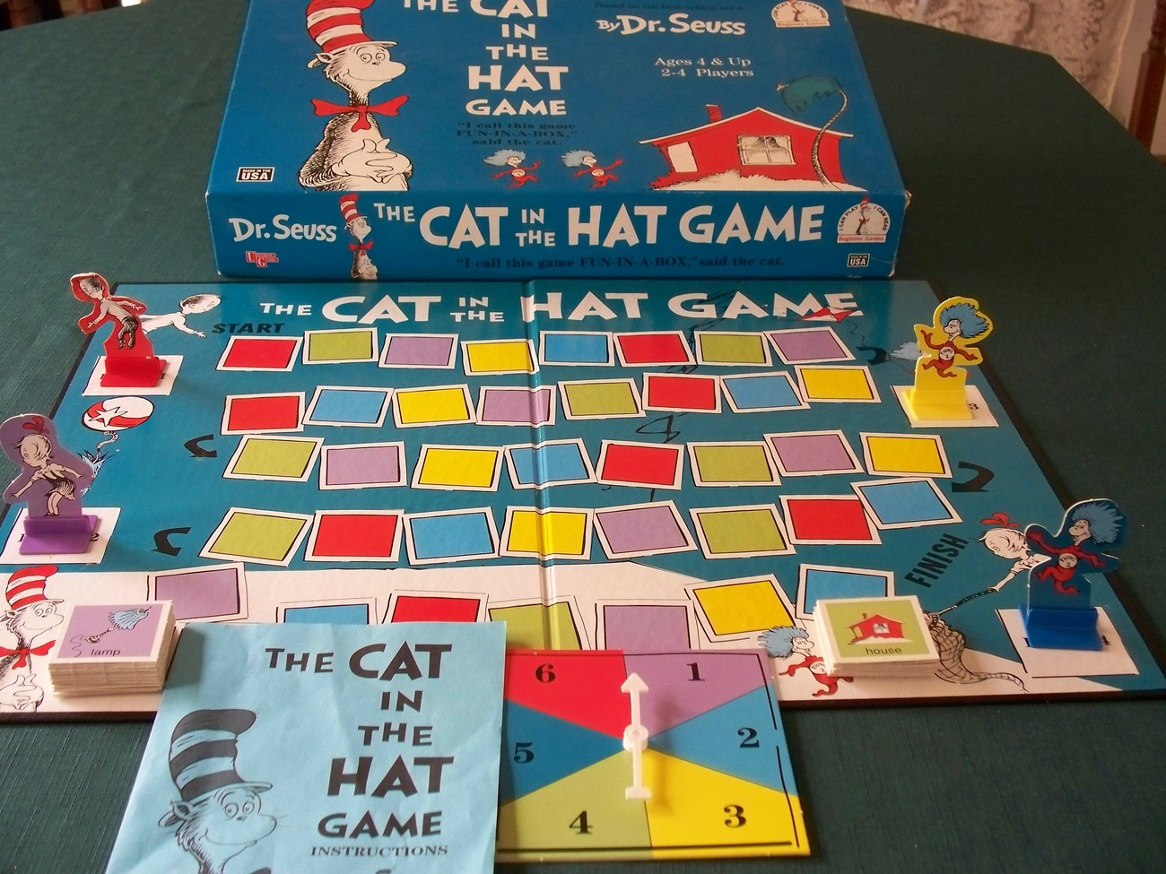 The Cat In The Hat Board Game University Games 2000, Comp. image 1