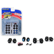 Hot Pursuit Wheel and Tire Multipack Set of 26 pieces 1/64 by Greenlight... - $16.73