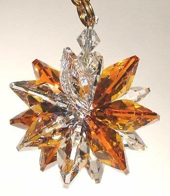 J'Leen Clear and Amber Small Suncluster with Austrian Crystal