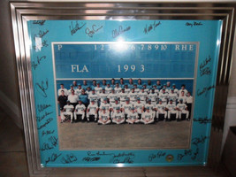 1993 FLORIDA MARLINS INAUGURAL TEAM SIGNED GAME POSTER- LTD EDITION- AWE... - $188.05