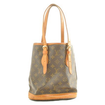 LOUIS VUITTON Monogram Bucket PM Shoulder Bag M42238 LV Auth rd268 Sticky - $189.89
