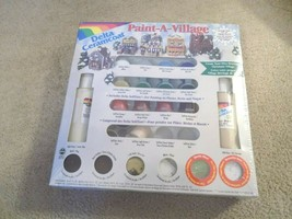 New-Delta Ceramcoat Paint-A-Village Create Your Own Heirloom Christmas Village - $14.84