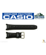 CASIO Pro Trek Pathfinder PRG-240 Original Black Rubber Watch BAND Strap PRG-40 - $28.95
