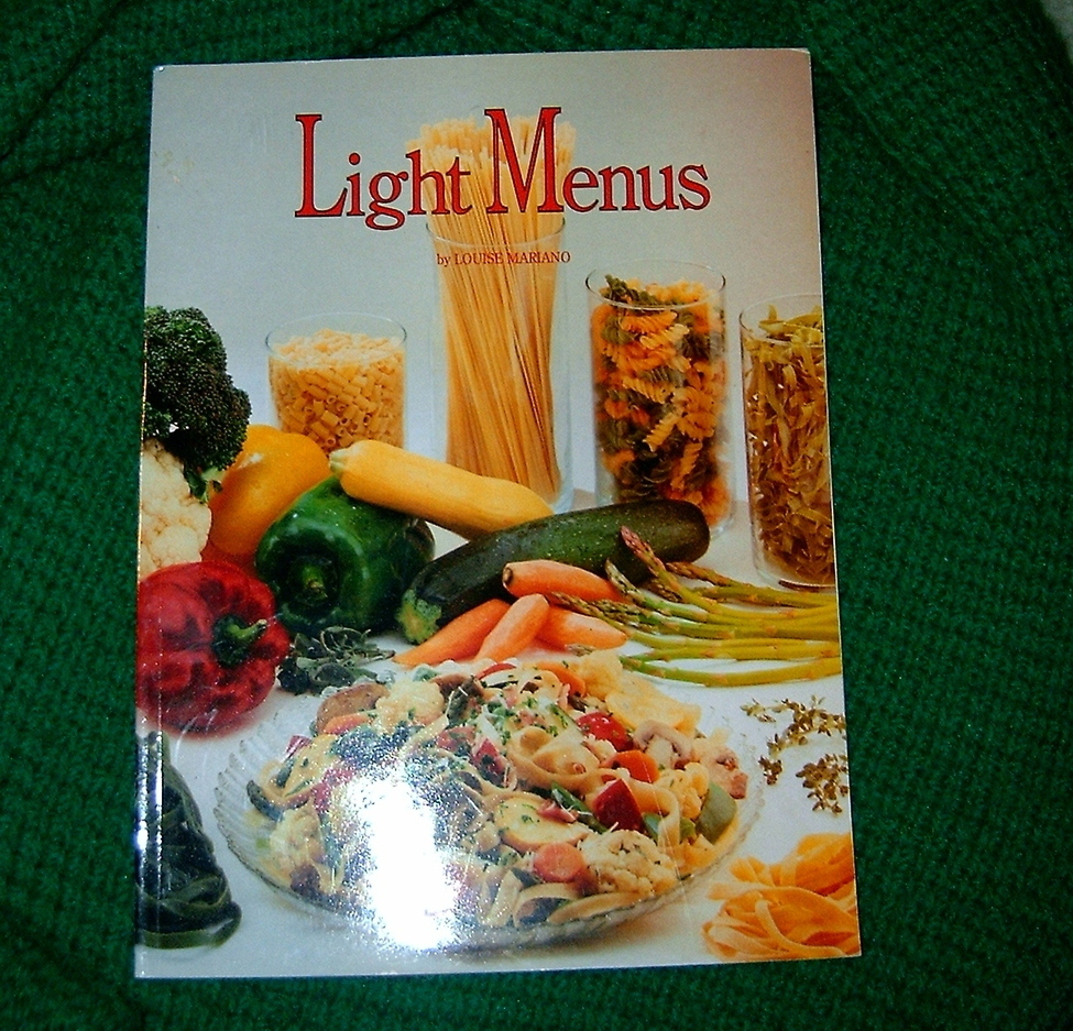 Light Menus by Louise Mariano 1985, Paperback