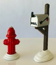 "Dept 56 Fire Hydrant & Mailbox Snow Village Accessory 5132-2 Metal 2-5/8"" - $19.34"