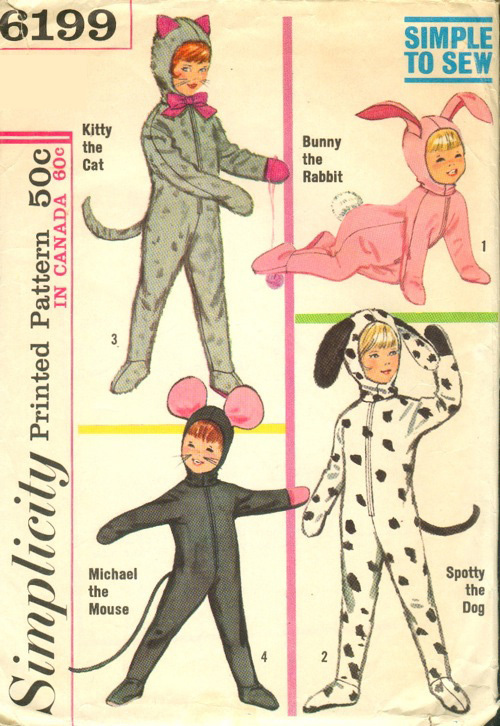 Primary image for Simplicity 6199 Kids' Animal Costumes Pattern Sz 4