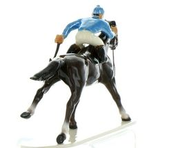 Hagen Renaker Specialty Horse with Jockey Racing Ceramic Figurine image 5