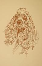 Cocker Spaniel Dog Art Portrait Print #57 Kline adds dog name free. WORD DRAWING - $49.95