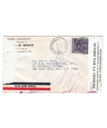 Haiti Double Censored Cover to US Receiving Mark Backstamps 1943 Mohr FE... - $9.95