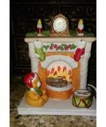 Vintage Aldon Accessories Inc. Porcelain Bisque Fireplace w Baby Bear Ni... - $10.88