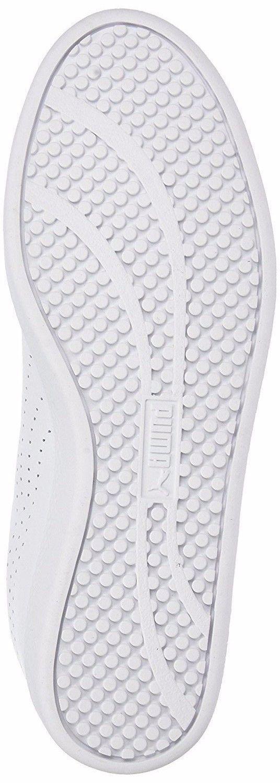 PUMA SMASH WOMEN'S PERF WHITE LEATHER SNEAKERS #36372403