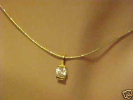 Necklace Crystal Rhinestone Pendant on Gold Chain - $13.86