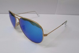 Ray-Ban Sunglasses 3025 112/17 Aviator BLUE Mirror Gold Frame NEW & 100%... - $112.56