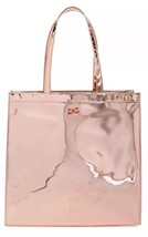 BNWT Ted Baker London Jencon Mirrored Large Icon Tote Rose Gold LIMITED ... - $56.10