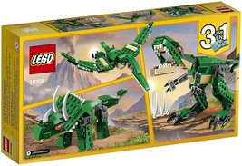 LEGO Creator 3 In 1 Mighty Dinosaurs 174 Pc Building Kit Green T Rex Tri... - $23.26