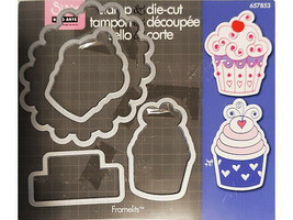 Sizzix & Hero Arts Happy Birthday Cupcakes Stamp and Die Set #657853