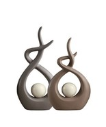 Ceramic Modern Abstract Figurines Big Branch Snail Stylish Ornaments Dec... - $48.45+
