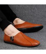 Men's Flats Shoes Slip on Summer Fashion Casual Leather Shoe - $72.12+