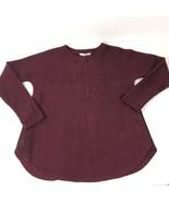 BB Dakota Womens Long Sleeve  Sweater Tunic  XS Maroon Red Button Detail - $17.00