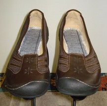 Women's KEEN Brown Leather/Mesh Casual Cool Flat Sz. 37 EU / 6.5 US Minty! - $33.84