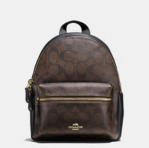 Coach MINI CHARLIE BACKPACK IN SIGNATURE f 58315 brown black - $139.99