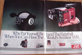 JVC Why Put Yourself Behind The Eightball 1985 2 Page Color Ad Near Mint - $3.50