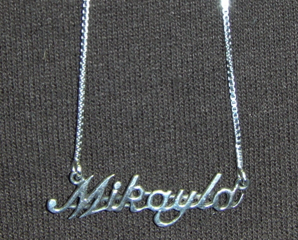 Sterling Silver Name Necklace - Name Plate - MIKAYLA