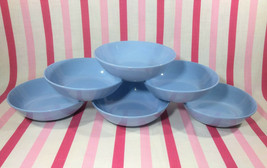 Wonderful Vintage Homer Laughlin Skytone Blue 6pc Fruit Bowl Set Schreck... - $24.00