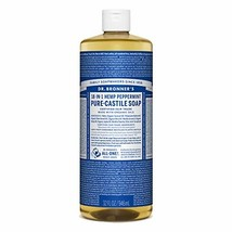 Dr. Bronner's - Pure-Castile Liquid Soap Peppermint, 32 ounce - Made wit... - $19.27