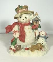 ENESCO CHERISHED TEDDIES TEDDY MERRY SNOWMAN W BIRDHOUSE 706906 - $9.50