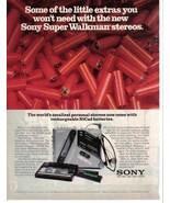 Walkman Sony Super Walkman Full Page Original Color Print Ad From 1986 N... - $3.50
