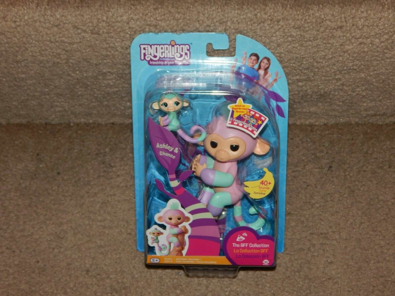 New Fingerlings BFF Collection Ashley & Chance + LR44 Batteries Free Shipping 5+