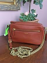 Coach Crossbody Bag Legacy Flight Bag Brown Cognac Leather Chain 25362 B03 - $89.09
