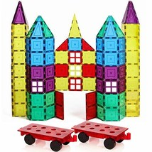 Magnetic Stick N Stack 120-Piece Classic Plus Set with 2 Wheel Bases - $55.14