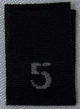 250pcs BLACK WOVEN SEWING CLOTHING LABELS, SIZE... - $13.71
