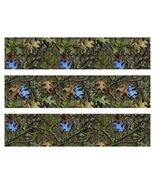 Mossy Oak Camo with Blue Leaves Edible Cake Strips - Cake Wraps - $8.98+