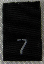 25pcs BLACK WOVEN SEWING CLOTHING LABELS, SIZE ... - $3.99