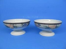 Mikasa Garden Harvest Crudite/Dip Footed Fruit Dessert Sherbet Bowls Set... - $19.39