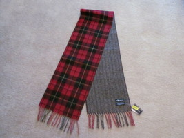 Authentic Polo Ralph Lauren Mens Scarf Lambs Wool Reversible Red Black P... - $39.59