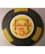 "1955 - $5.00 Casino Chip From: ""Golden Bank Club"" - (sku#2093) - $18.89"