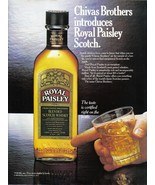 Chivas Brothers Royal Paisley Scotch Whisky Print Ad From 1985 Vintage NM - $7.69
