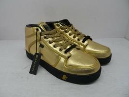 Spectro Men's Mid-Cut Vlado Casual Sneakers Gold/Black Size 6.5M - $47.49