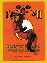 Old Grand-Dad 2 Full Pages Color Print Ads From The 1980's  - Original -... - $7.69