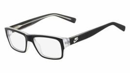 Authentic Nike Eyeglasses 5530 001 Matte Black Crystal Frames 46MM Rx-ABLE - $53.45