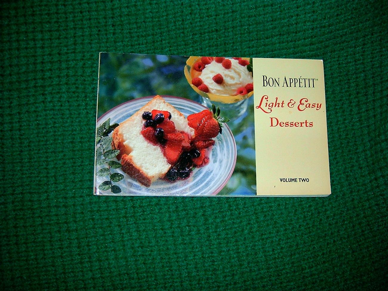 Bon Appetit Light & Easy Desserts Cookbook
